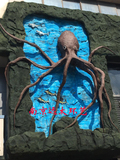 餐厅水泥章鱼雕塑