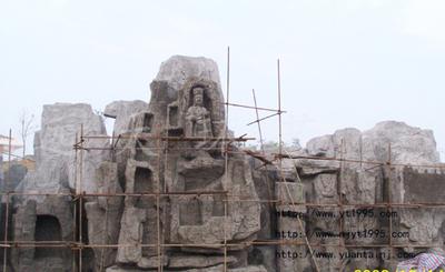 水泥雕塑施工现场