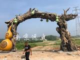 滁州明光金虹岭休闲生态园水泥仿真树大门