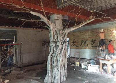 室内仿真树塑形现场