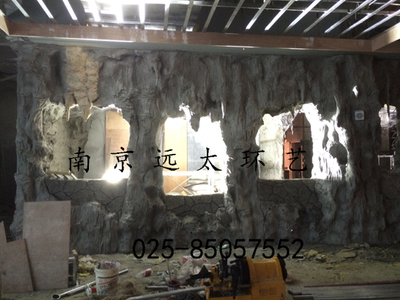 南京假山溶洞制作现场