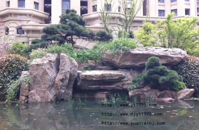 小区驳岸GRC塑石