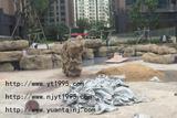 住宅小区塑石驳岸小品