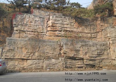 护坡塑石假山