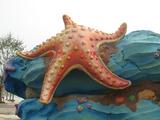 仿海洋生物水泥雕塑局部