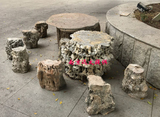 塑石座椅小品