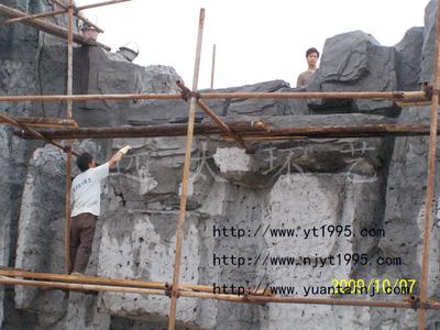 南京塑石制作现场