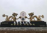 滁州市明光紫阳中心村水泥双龙雕塑