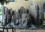 室内塑石瀑布景观